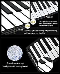 S88 Portable 88 Keys Roll Up Soft Flexible Electronic Music Keyboard Piano Built-in Loud Speaker Recharge Battery for Children Beginner