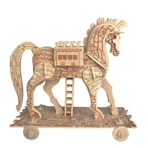 - Baidecor 3D Wooden Puzzle Trojan Horse Kids Jigsaw Model Kits Woodcraft Toy