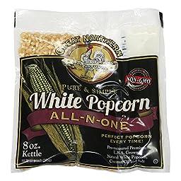 Great Northern Popcorn White Premium Popcorn 8 oz Portion Pack 24 Pack