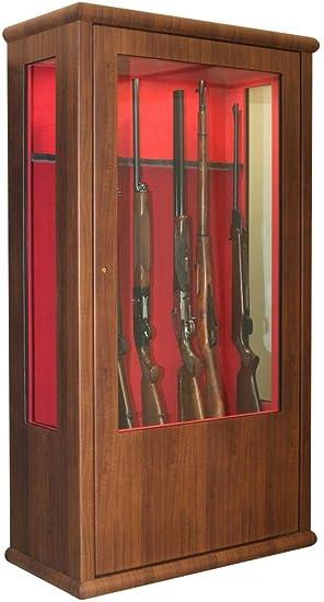 Infac Armoire Forte Vitrine Couleur Bois Lv90 14 Armes Amazon Fr Sports Et Loisirs