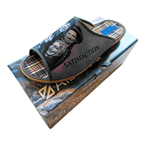 ALBEROLA HAUSSCHUH / PANTOFFEL HELLE SOHLE HERREN THE ROLLING STONES AC338A - EU 40 - 46