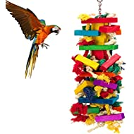 MEWTOGO Extra Large Bird Parrot Toys for Cockatoos African Grey Macaws
