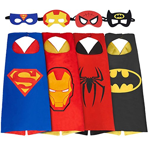 [SPESS Comics Cartoon Hero Costumes Toddlers Cape and Mask for Kids] (Iron Man Shirt And Mask Costumes)