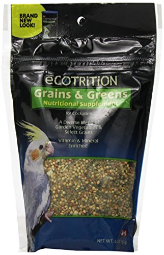- Ecotrition Cockatiel Variety Blend Grains And Greens, 6.5-Ounce (C546)