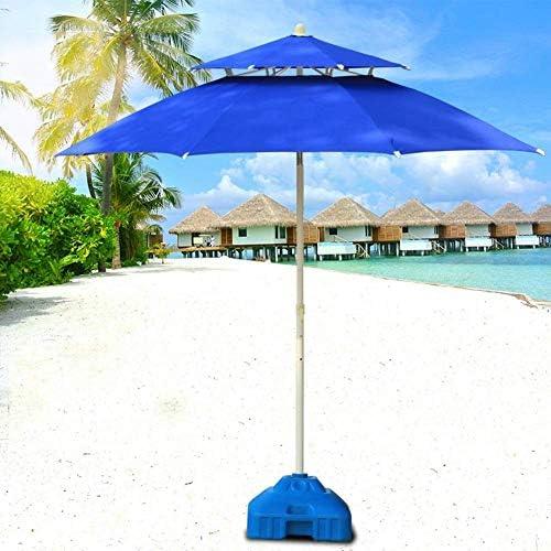 LY88パラソル7.5 '/ 9'ダブルトップパティオガーデンパラソル、屋外ヤードに最適、ビーチの商業イベントマーケット、キャンプ、プールサイド