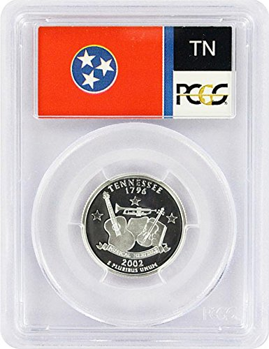 Tennessee State Coin - 2002 Tennessee State S Silver Proof Quarter PR-69 PCGS