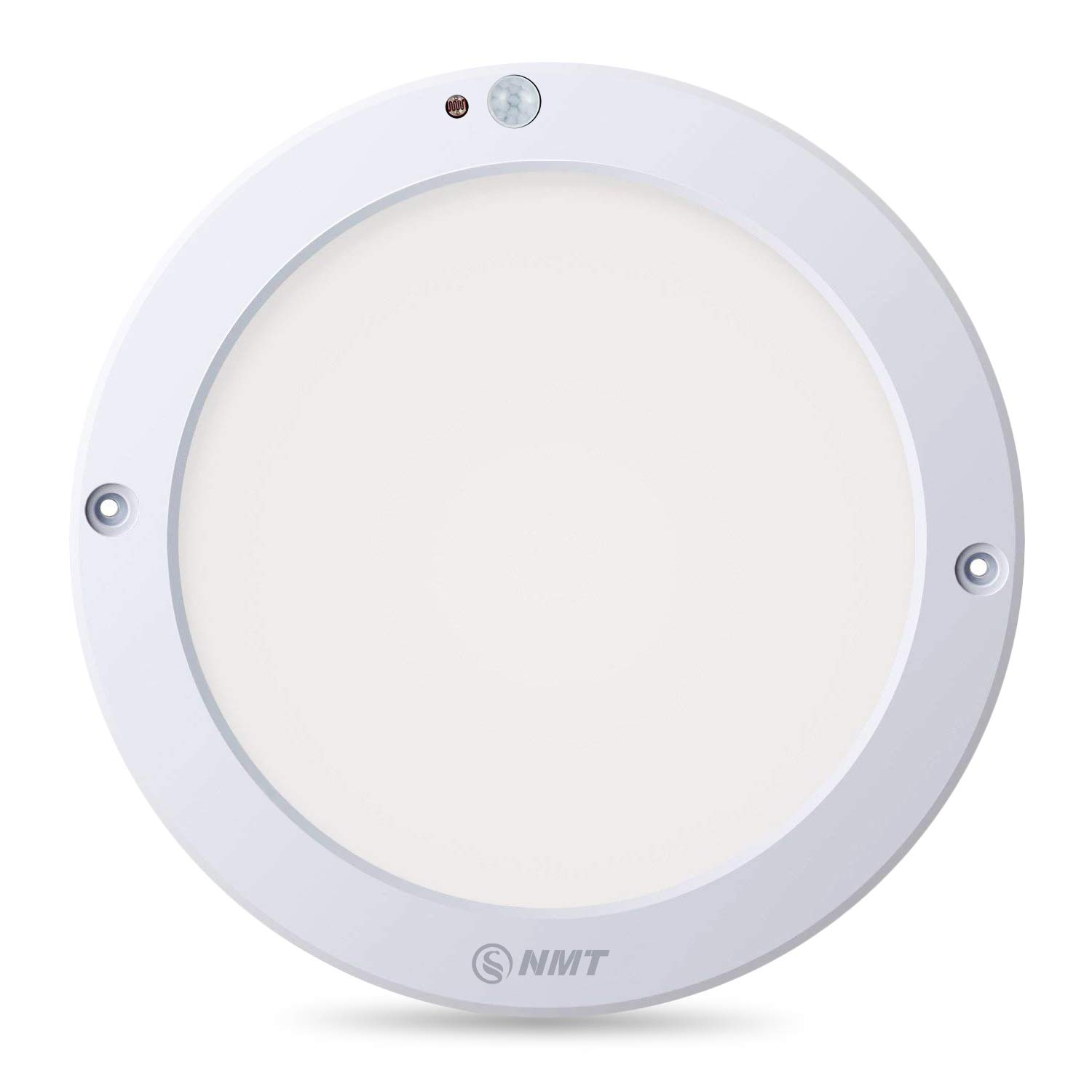LED Panel Light PIR Motion Sensor Body Detector Ceiling 15W 1200LM 4000K Φ8.66 Inch Surface Mounted Lights Round Flush Mount Light For Stairs Depot Bathroom Toilet (100W Incandescent Bulbs Equivalent)