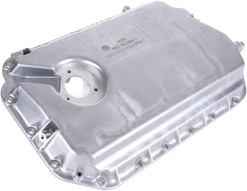 ROADFAR Engine Oil Pan Drain Plug Kits for Aluminum Assembly fit for 96 97 98 99 00 01 02 03 04 05 Audi A4 A6 VW Passat Lower Quattro V6 Cummins Diesel 2.7L 2.8L with OE 264-705 Oil Drain Pan