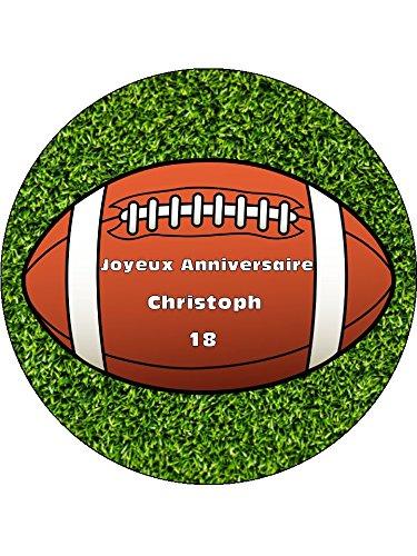 Personalizado Balón de rugby 19 centímetro comestibles hielo tarta ...