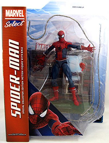 Diamond Select Toys Marvel Select: Amazing Spider-Man 2 Action Figure with - Spider Figure 2 Man Amazing