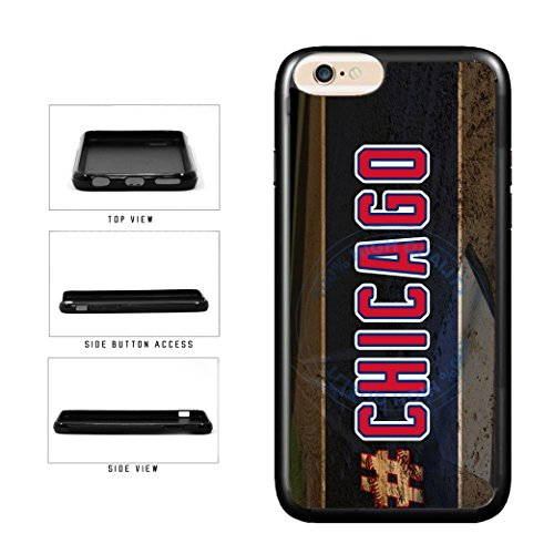 (BleuReign(TM) Hashtag Chicago #Chicago Blue and Red Baseball Team TPU RUBBER SILICONE Phone Case Back Cover For Apple iPhone 6 Plus and iPhone 6s Plus (5.5 Inches Screen) )
