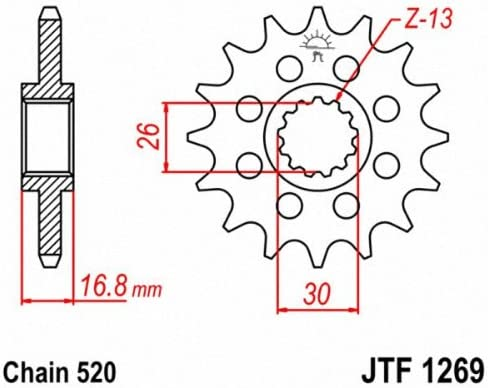 Steel Front Sprocket 15T For 2006 Honda CBR600RR~JT Sprockets JTF1269.15