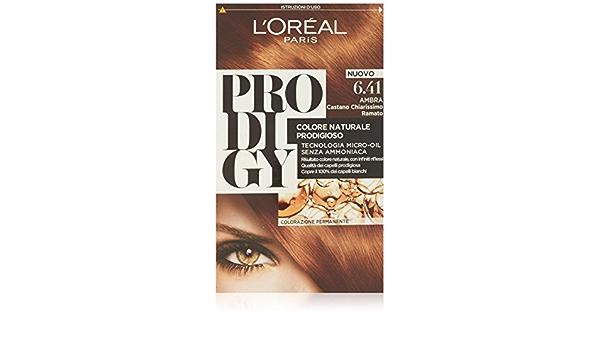 Prodigy Color permanente sin amoniaco 6.41 ámbar marrón claro cobre