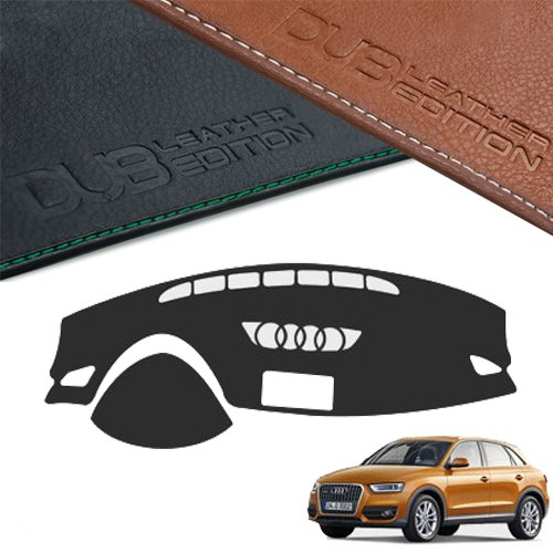 Custom Made Leather Edition Premium Dashboard Cover For Audi Q3 2013 2017 (Black Leather)