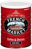 FRENCH MARKET Coffee and Chicory, Dark Roast, 12 Ounce Can