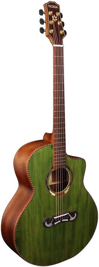 Xhtoe Guitarra, Spruce Chapa de Madera de la Guitarra acústica Guitarra Gente del Campo 41 Pulgadas Guitarra Clásica para Todo el Mundo (Color : Grass Green, Size : 41 Inches)