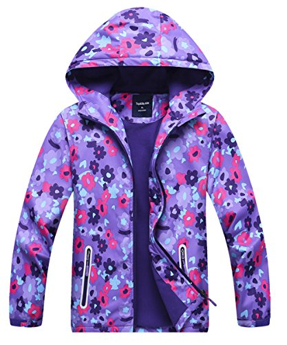 (Seeduck Girls' Fleece Lined Outdoor Windproof Jacket for Girls (4T=110CM=43.3)