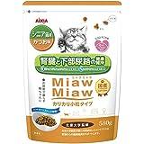 ミャウミャウ (MiawMiaw) カリカリ小粒タイプミドルシニア猫用かつお味 580g