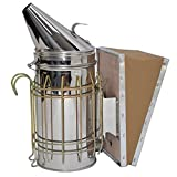 VIVO Stainless Steel Bee Hive Smoker with Heat Shield | Beekeeping Equipment (BEE-V001)