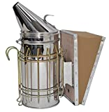 New Bee Hive Smoker Stainless Steel w/Heat Shield Beekeeping Equipment from VIVO (BEE-V001)