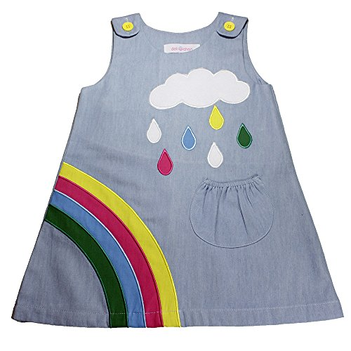Dek-Chan Playwear dresses Rainbow denim for girls Thailand fabric (A)