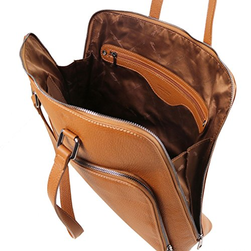 Cognac Tl141630 En Maletín Piel Suave Tuscany Lucca Mujer champagne Tl Leather Para Smart X4vq7
