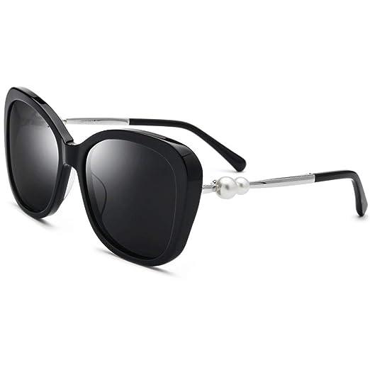 Heqianqian Mujer Gafas de Sol Cat Eye PC Frame Polarized ...