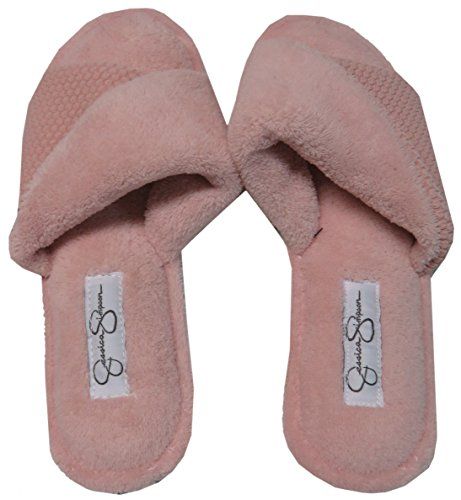 Jessica Simpson Womens Open Teen Slippers Rose Pink, Small (5-6)