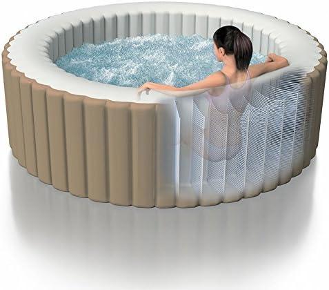 Intex 28404 Hinchable Burbujas sin cobertor Full SPA, Beige/Caqui, 4 Personas: Amazon.es: Jardín
