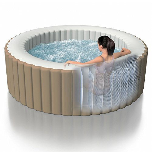 Intex Purespa Bubble Massage ø 196 X 71 Cm 4 Personen Beige