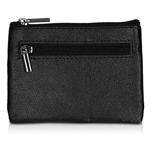 kwmobile Car Key Signal Blocker - Universal Anti Theft Car Key Fob Pouch Case - PU Leather Keyless Car Keys Bag with RFID Blocker, Key Ring and Pocket ()
