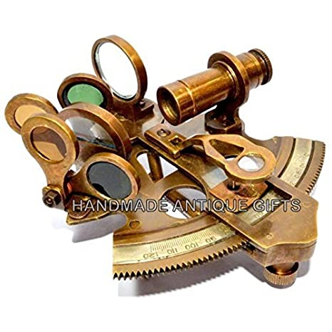 3 Inches Nautical Sextant Brass Working Instrument Astrolabe Ship Maritime Gift Antiques