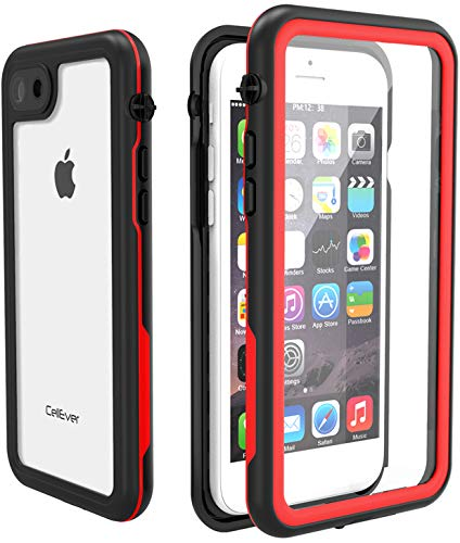 uk availability b024d 75b76 CellEver iPhone 7/8 Waterproof Case, Underwater Fully Sealed Clear Cover  Snowproof Shockproof Dirtproof IP68 Certified Waterproof Case Fits Apple ...