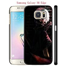 Galaxy S6 Edge Case, Anime Tokyo Ghoul 14 Drop Protection Never Fade Anti Slip Scratchproof Black Hard Plastic Case