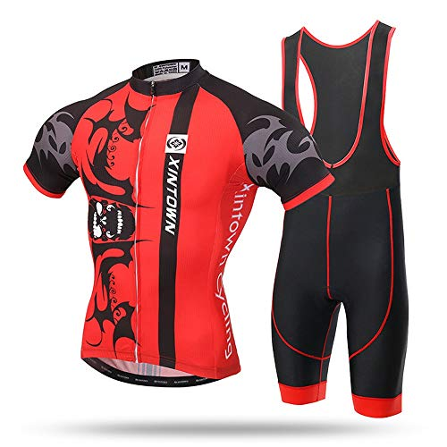 - Micye Bat Pattern Printing Men's Fashion Short Sling Set Cycling Wear Thin and Light Quick Dry Outdoor Cycling Clothes MTB Bike Clothing for All Levels Cyclists (Color : Red, Size : XXXL)