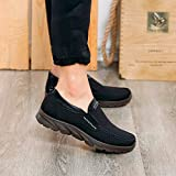 F_Gotal Mens Shoes Casual Low Shoes Business Casual Breathable Gym Shoes Soft Bottom Men's Shoes Outdoor Sport Sneakers Black