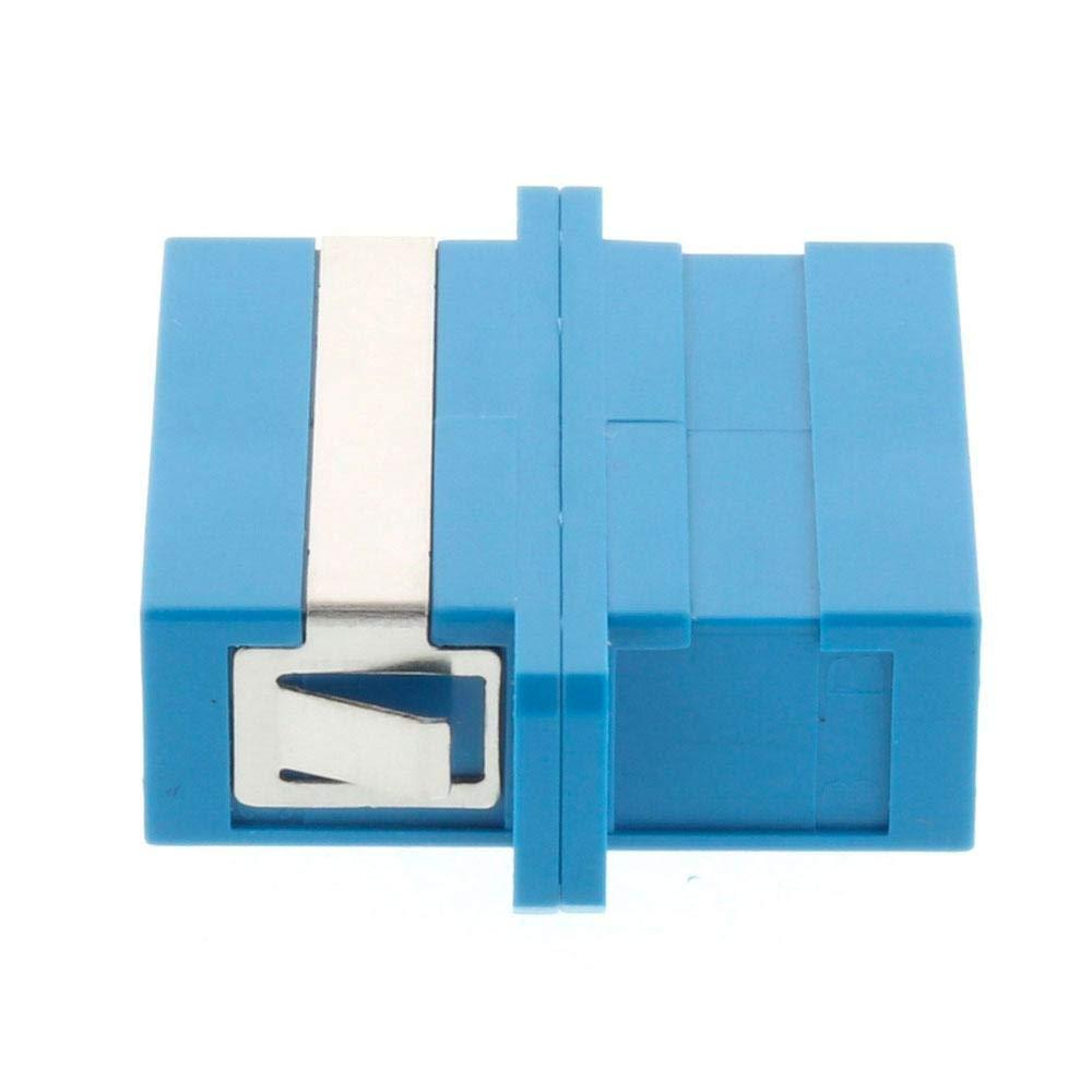 5 Pack Fiber Optic Adapter SC-UPC Duplex Singlemode SM 9//125 Blue Fiber Optic Enclosure Panel