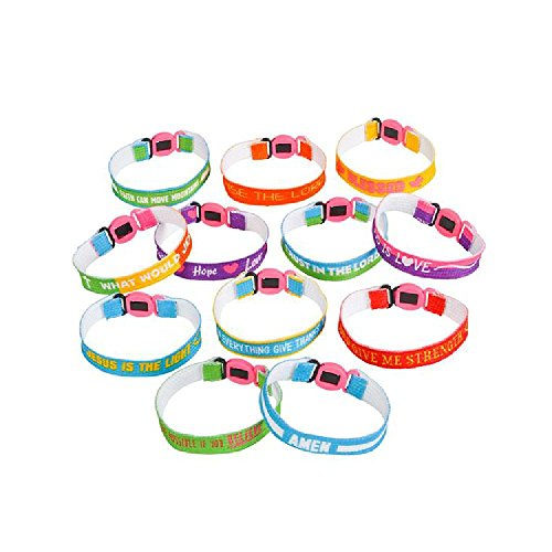 100Pc Religious Sayings Bracelet Assortment by Bargain World