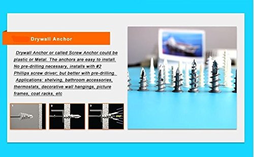 Self Drilling Drywall Wall Anchor 3.5x20mm 10 Pieces Each Anchor and Screw WhatEverULove 15x33mm Screw