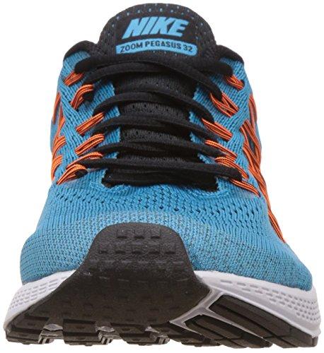 Herren Nike Air Zoom Pegasus 32 Laufschuh Blue Lagoon / Schwarz-helle Zitrus-Gesamtorange