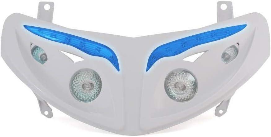Dualer Optischer Replay RR8 f/ür Peugeot 50 Speedfight-Ii Wei/ß mit Leds Blau **