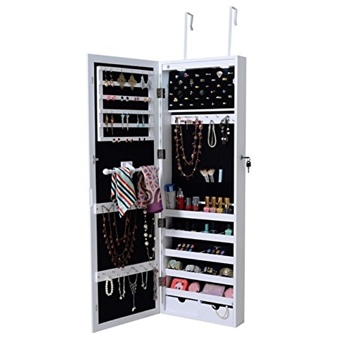 Superieur Amazon.com: Jewelry Cabinet With Mirror LED Lights   Hanging Wall Mount  Armoire Bundle W Container Organizer: Kitchen U0026 Dining