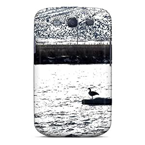 Awesome River Geese Flip Case With Fashion Design For Galaxy S3