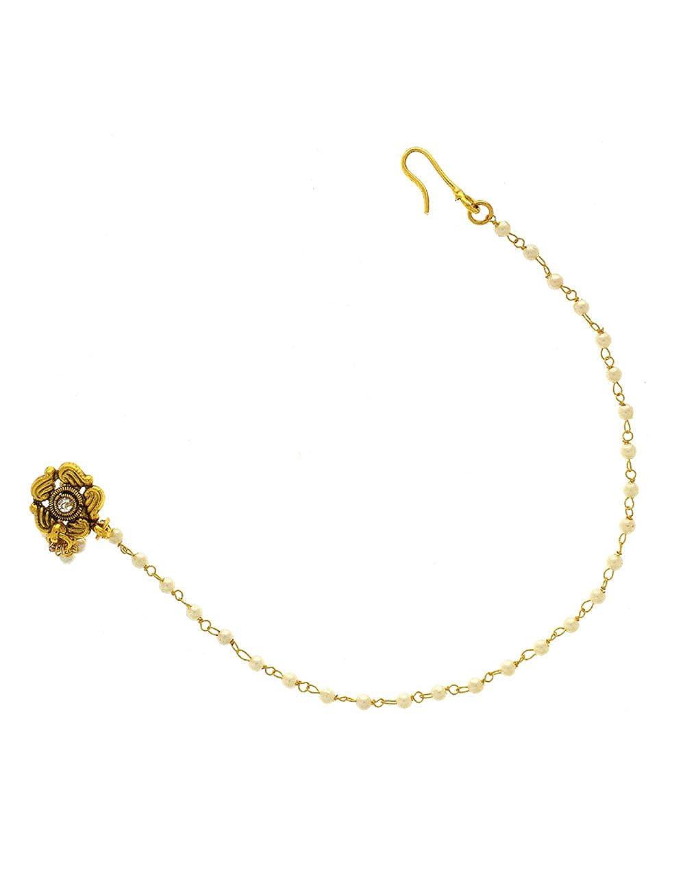 Buy Anuradha Art Golden Finish Simple Classy Traditional Studs