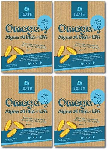 Testa Omega-3 – much Healthier than Fish Oil – plant based DHA + EPA...
