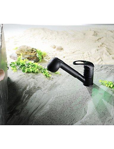 aquafaucet Hebel Hohe Arc Pull Down Küchenarmatur mit ausziehbarem Pull Out Zauberstab,, schwenkbarer Auslauf Öl eingerieben Bronze
