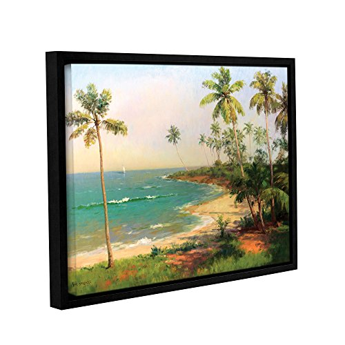 Art Wall Karen Dupre's Tropical Coastline, Gallery Wrapped canvas (Dupre Canvas Painting)
