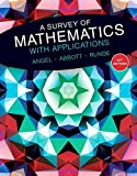 img - for A Survey of Mathematics with Applications (10th Edition) - Standalone book book / textbook / text book