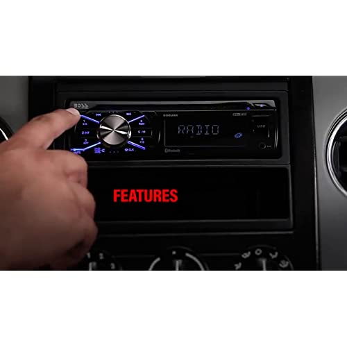 Single Din AM//FM Radio Receiver Built-in Microphone Bluetooth Audio//Hands-Free Calling CD//MP3//USB//AUX Input Wireless Remote Control Boss Audio Systems 508UAB Multimedia Car Stereo