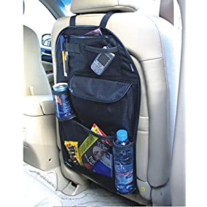 2 x Kabalo Universel Back Seat Organisateur de voiture voyage avec porte-boissons / parapluie et 7 velcro étanche compartiments de rangement distincts. 55cm x 36cm